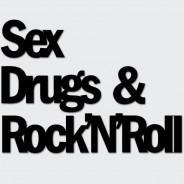 Napis na ścianę SEX DRUGS & ROCK\\\\\\\'N\\\\\\\'ROLL czarny