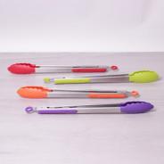 Szczypce kuchenne ze stali nierdzewnej z silikonem 30.5 cm różne kolory