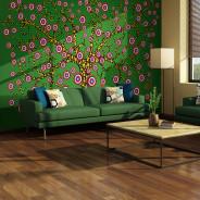 Fototapeta - abstrakcja: drzewo (zielony)