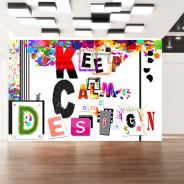 Fototapeta - Keep Calm and Design