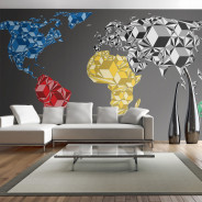 Fototapeta XXL - Map of the World - colorful solids