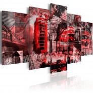 Obraz - Londyński kolaż - 5 części