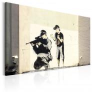 Obraz - Sniper and Child by Banksy