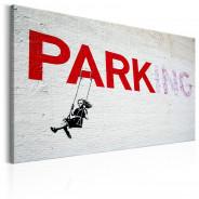 Obraz - Parking Girl Swing by Banksy