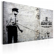 Obraz - Graffiti Area (Police and a Dog) by Banksy