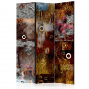 Parawan 3-częściowy - Malowana abstrakcja [Room Dividers]