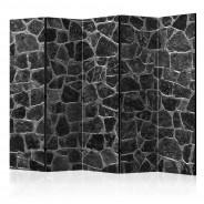 Parawan 5-częściowy - Czarne kamienie II [Room Dividers]