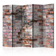 Parawan 5-częściowy - Stary mur II [Room Dividers]