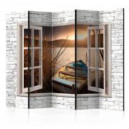 Parawan 5-częściowy - Jesienne jezioro II [Room Dividers]