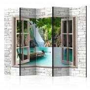 Parawan 5-częściowy - Tajlandzki raj II [Room Dividers]