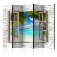 Parawan 5-częściowy - Wyspa marzeń II [Room Dividers]