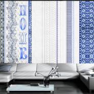 Fototapeta - Vintage home - blue
