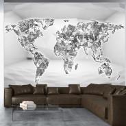 Fototapeta - Diamentowa mapa