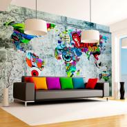 Fototapeta - Mapa - Graffiti