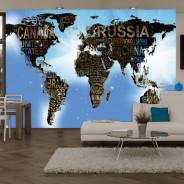 Fototapeta - Mapa świata - Niebieskie natchnienie