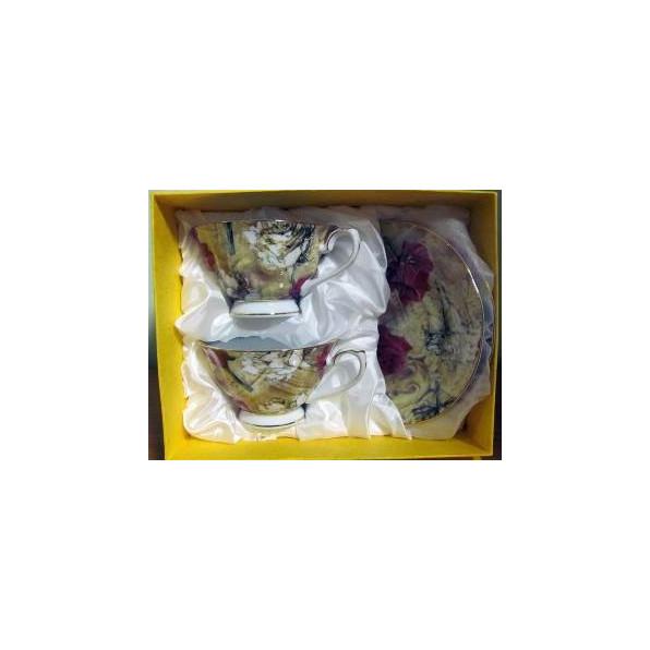Zestaw filiżanek z podstawkami 2+2 GL084-A091