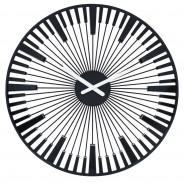 Zegar ścienny czarny Piano