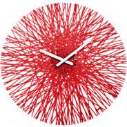 Zegar ścienny czerwony Silk
