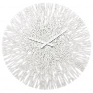 Zegar ścienny biały Silk