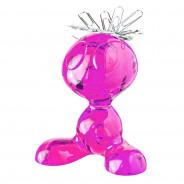 Stojak na spinacze biurowe różowy Curly