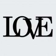 Napis na ścianę LOVE czarny