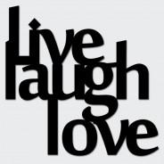 Napis na ścianę LIVE LAUGH LOVE czarny