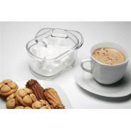 Cukiernica z pokrywką szklana cukierniczka 120 mm