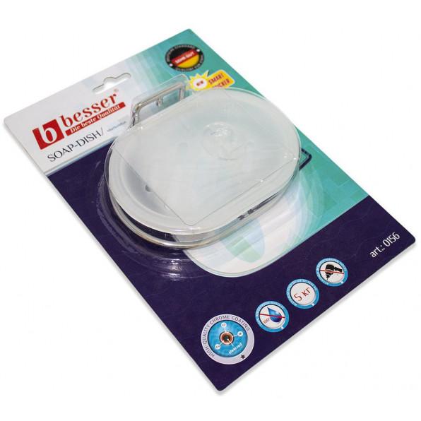 Pojemnik na mydło, mydelniczka chromowana 13x8 cm