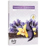 Zestaw świec zapachowych- WANILIA-LAWENDA 6 szt.