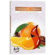 Zestaw świec zapachowych- CYNAMON-POMARAŃCZA 6 szt.