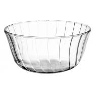 Salaterka szklana okrągła z zakładkami JASŁO