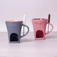 Ceramiczne fondue dla 2 osób różne kolory