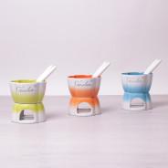 Ceramiczne fondue dla 1 osoby różne kolory