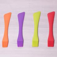 Pędzel + łopatka silikonowe 2w1 różne kolory