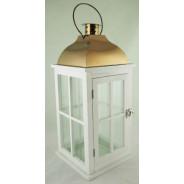 Lampion metalowy z szybkami Latarnia SAC-BW7660
