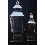Lampion metalowy z szybkami Latarnia SAC-FF6913