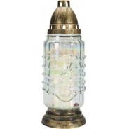 Lampion. Znicz szklany z wkładem wymiennym seria tęczowa 4023