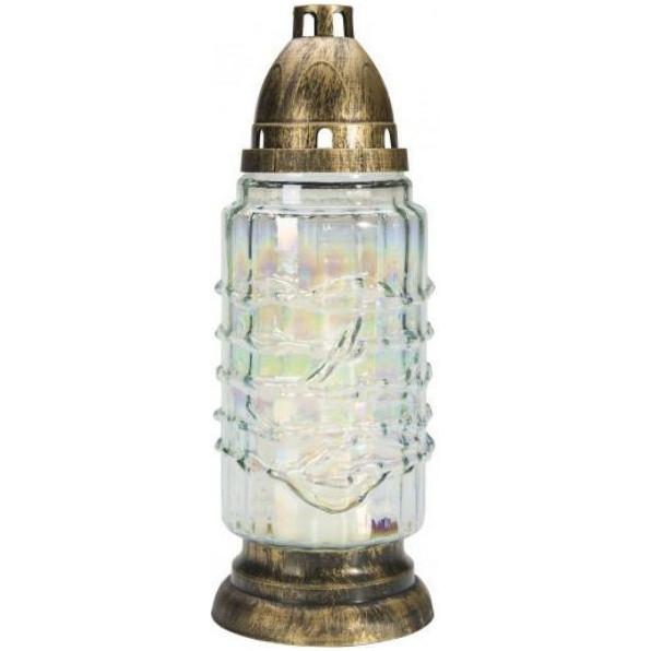 Lampion, Znicz szklany z wkładem wymiennym seria tęczowa 7008