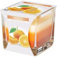 Świeca zapachowa trójkolorowa w szkle - Jabłko-cynamon