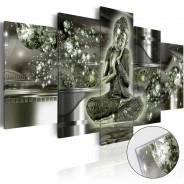 Obraz na szkle akrylowym - Szmaragdowy Budda [Glass]