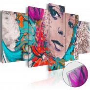 Obraz na szkle akrylowym - Kolorowa kokietka [Glass]