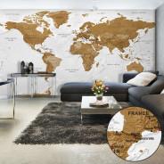 Fototapeta XXL - Mapa świata: Białe oceany II