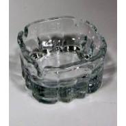 Popielniczka szklana 10 cm KARINA - komplet 2 szt