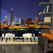 Fototapeta - Nocne życie w Chicago
