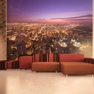 Fototapeta - Amerykańskie Chicago nocą