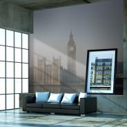Fototapeta - Pałac Westminsterski we mgle, Londyn