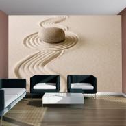 Fototapeta - Zen sand garden
