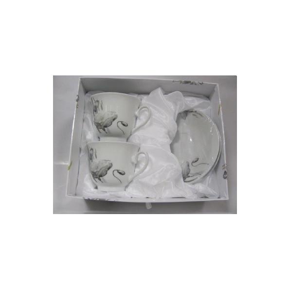 Komplet filiżanek z podstawkami 2+2 HHC045B-12A22
