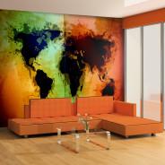 Fototapeta - Czarne kontynenty, kolorowe oceany...