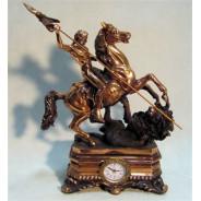 Figura Meżczyzna na koniu z zegarem 76-T1342